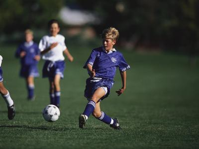 11 Year Old Boys Soccer Action