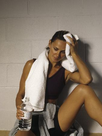 Woman in Gym after Workout, New York, New York, USA