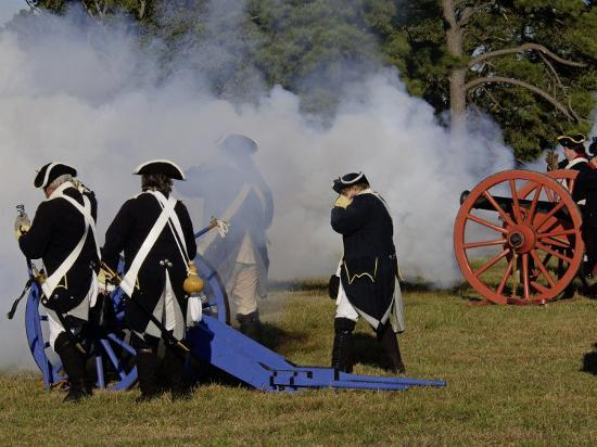 Artillery Demonstration, Revolutionary War Reenactment at Yorktown  Battlefield, Virginia