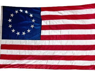 Thirteen-Star Flag of the New United States at Hanging at the Monmouth, New Jersey