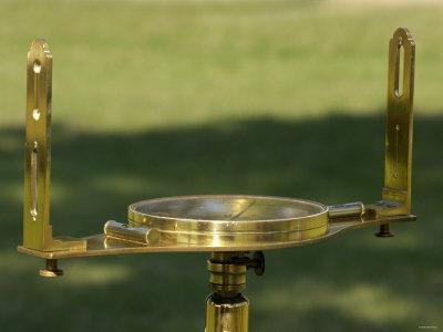 Surveyor's Compass from the 1700s, Yorktown Battlefield, Colonial National Park
