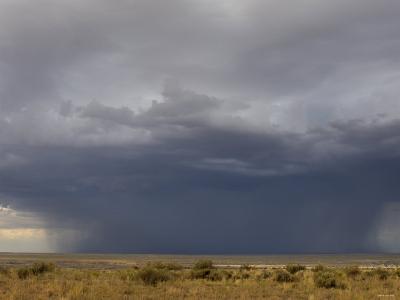 Rainstorm over the Arid Plains of the Four Corners Area, New Mexico