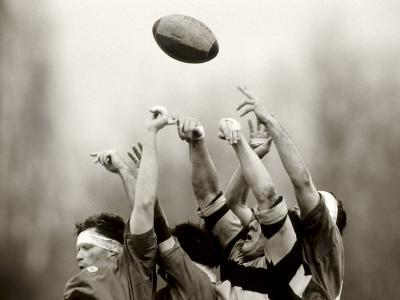 Rugby Player in Action, Paris, France