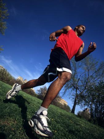 Male Runner Training, New York, New York, USA