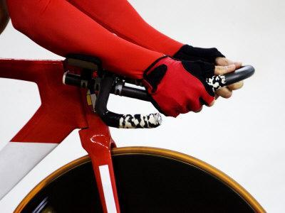 Detail of Cyclist Racing on the Velodrome Track, Athens, Greece
