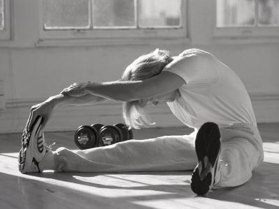 Man Stretching in Gym, New York, New York, USA