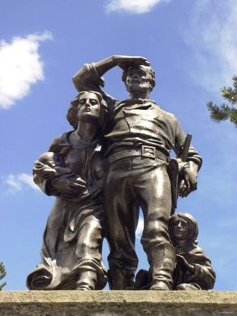 Memorial Statue for the Tragic Donner Party Expedition, Sierra Nevada, California