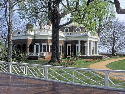 Monticello, Thomas Jefferson's Home in Charlottesville, Virginia