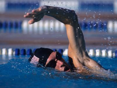 Male Swimmer in Action