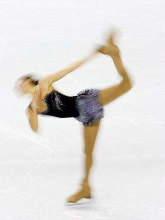 Blurred Action of Woman Figure Skater, Torino, Italy