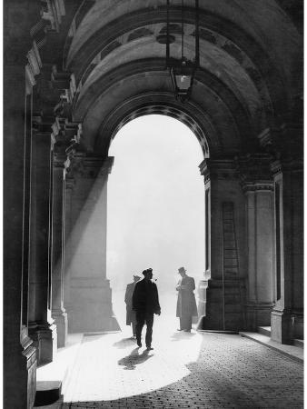 Men Pass Through the Archway of the British Foreign Ministry in London, 1938