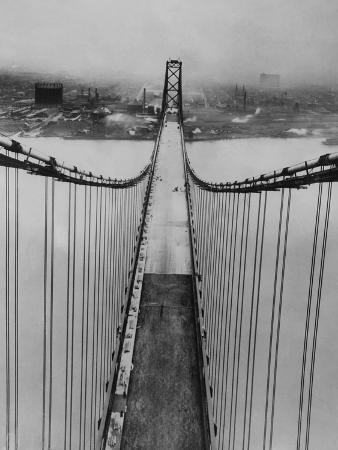 Ambassador Bridge in Detroit, 1929