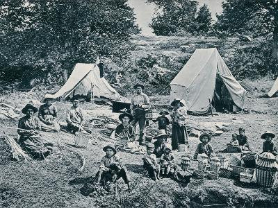 Indian Basket-Makers on the Banks of the St. Lawrence River, 1890s