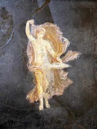 Naples, Naples National Archeological Museum, from Pompeii, Villa of Cicero, Dancing Maenad