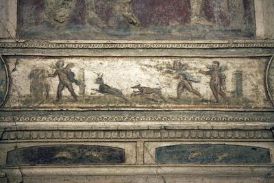 Italy, Naples, Naples Museum, from Pompeii, House of Meleager (VI 9), Stucco Policromo (Polychrome)
