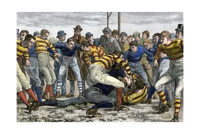 Scoring a Goal in English Football, 1880s