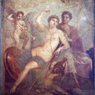 Italy, Naples, Naples Museum, from Pompeii, House of Mars an Venus (VII, 9, 47), Mars and  Venus
