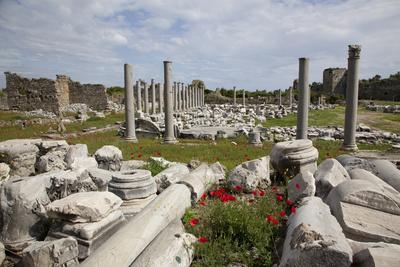 Turkey, Side, Agora, Colonnade Courtyard