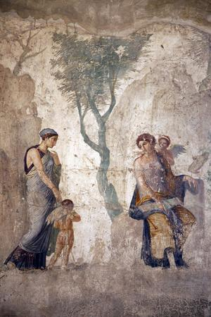 Italy, Naples, Naples Museum, from Pompeii, House of Punished Love  (VII, 2, 23), Eros' Punishment