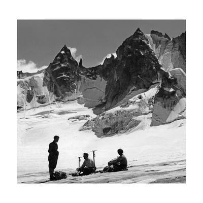 Bergsteiger in der Schweiz, 1939