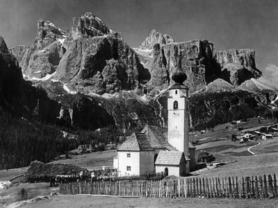 Colfosco in the Dolomites of South Tyrol, 1931.