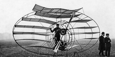 Flying Machine Built by Marquis D'Equeville, 1909