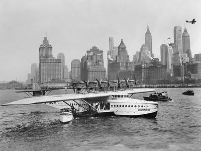 Dornier Do X Flying Boat in the Port of New York, 1931