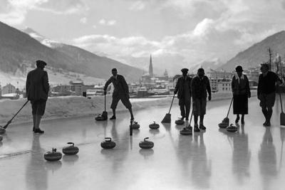 Curling in Davos, 1920s
