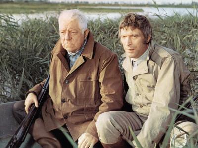 Jean Gabin and Michel Barbey: La Horse, 1970