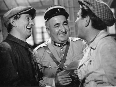 Jean Gabin, Aimos and Fernand Charpin: La Belle Équipe, 1936