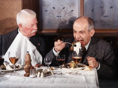 Louis de Funès and Jean Gabin: Le Tatoué, 1968
