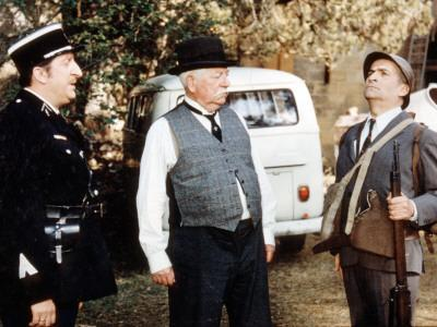 Jean Gabin, Louis de Funès and Pierre Tornade: Le Tatoué, 1968
