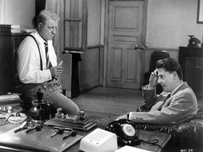Jean Gabin and Jean Desailly: Maigret Tend Un Piège, 1958