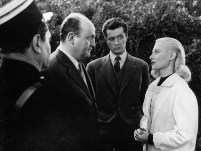 Bernard Blier, Jean Olivier and Michèle Morgan: Retour de Manivelle, 1957