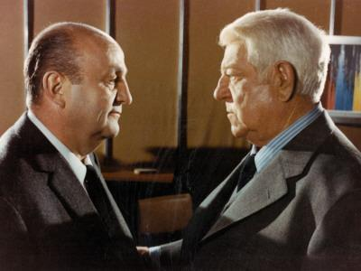 Jean Gabin and Bernard Blier: Le Tueur, 1972