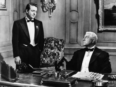 Jean Gabin and Jean Desailly: Les Grandes Familles, 1958
