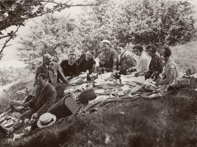 Family Picnic in the Countryside