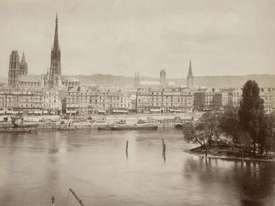View of Rouen and the Seine River, France