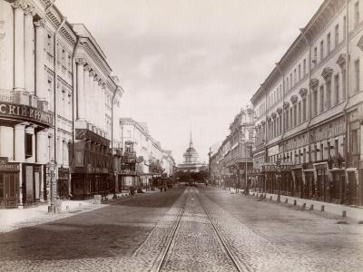 Russia, Nevsky Prospect in St. Petersburg
