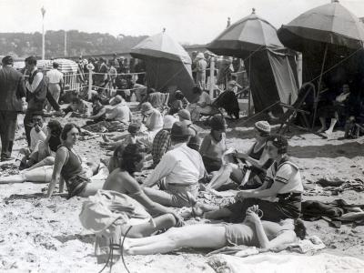 Beach at Deauville, August 15, 1930