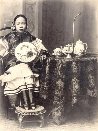 China, Young Sophisticated Woman at Home
