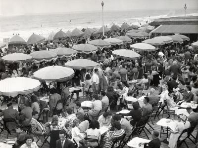 Café Terrace in Deauville, France (1948)