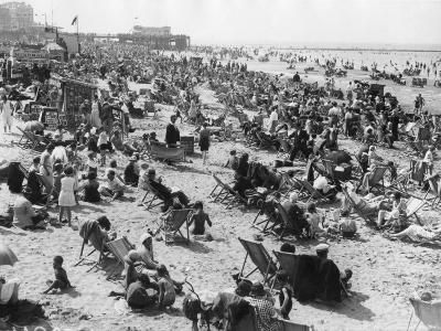 Overcrowded Beach at Margate, Kent