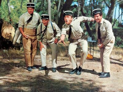 Louis de Funès, Michel Galabru, Jean Lefevre and Christian Marin: Le Gendarme de Saint-Tropez, 1964