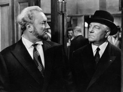 Jean Gabin and Pierre Brasseur: Les Grandes Familles, 1958