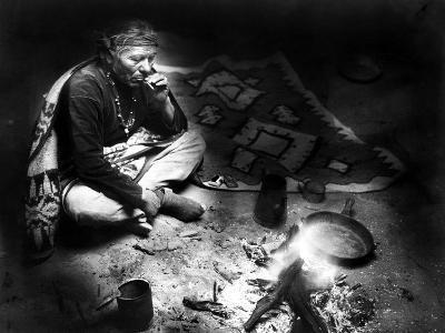 Navajo Man Smoking, C1915