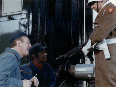 Jean-Paul Belmondo, Bourvil and Robert Dalban: Le Cerveau, 1969