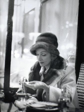 Marlène Dietrich (1901-1992) in a Café