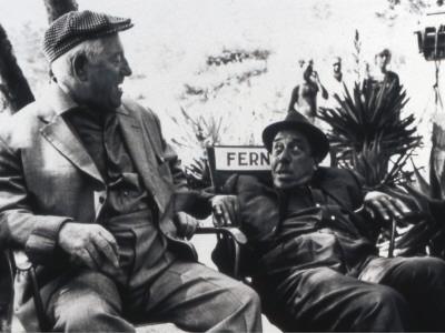 Jean Gabin and Fernandelshooting Picture: L'Âge Ingrat, 1964