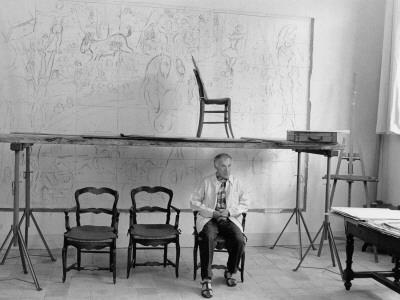 Marc Chagall in his Studio